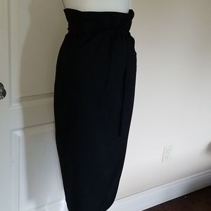 Liptons vintage pure virgin wool paperbag skirt